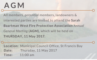 Sarah Baartman West FPA AGM – Notice