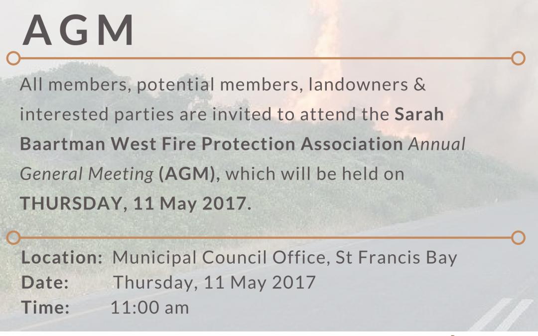 Sarah Baartman West FPA AGM – Notice